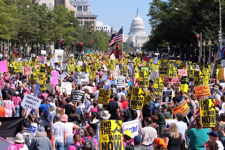 Anti-War Protest in Washington DC