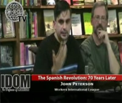 John Peterson speaking on Spanish Revolution