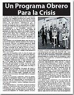 Un Programa Obrero Para la Crisis