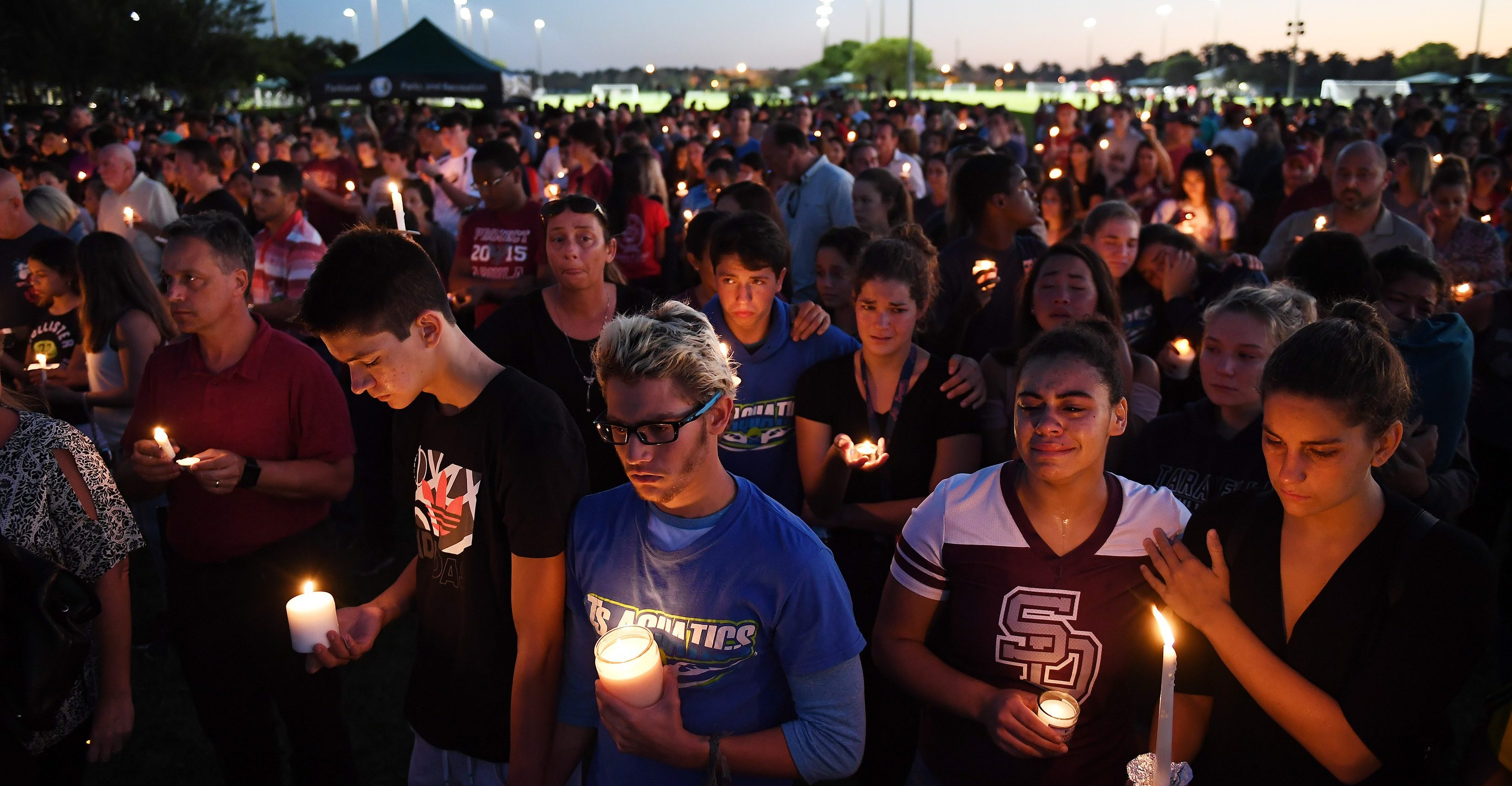 School Shooting Vigil FL