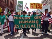 may day immigration march