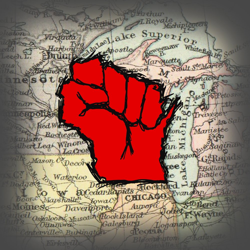 wisconsin madison fist walker protest