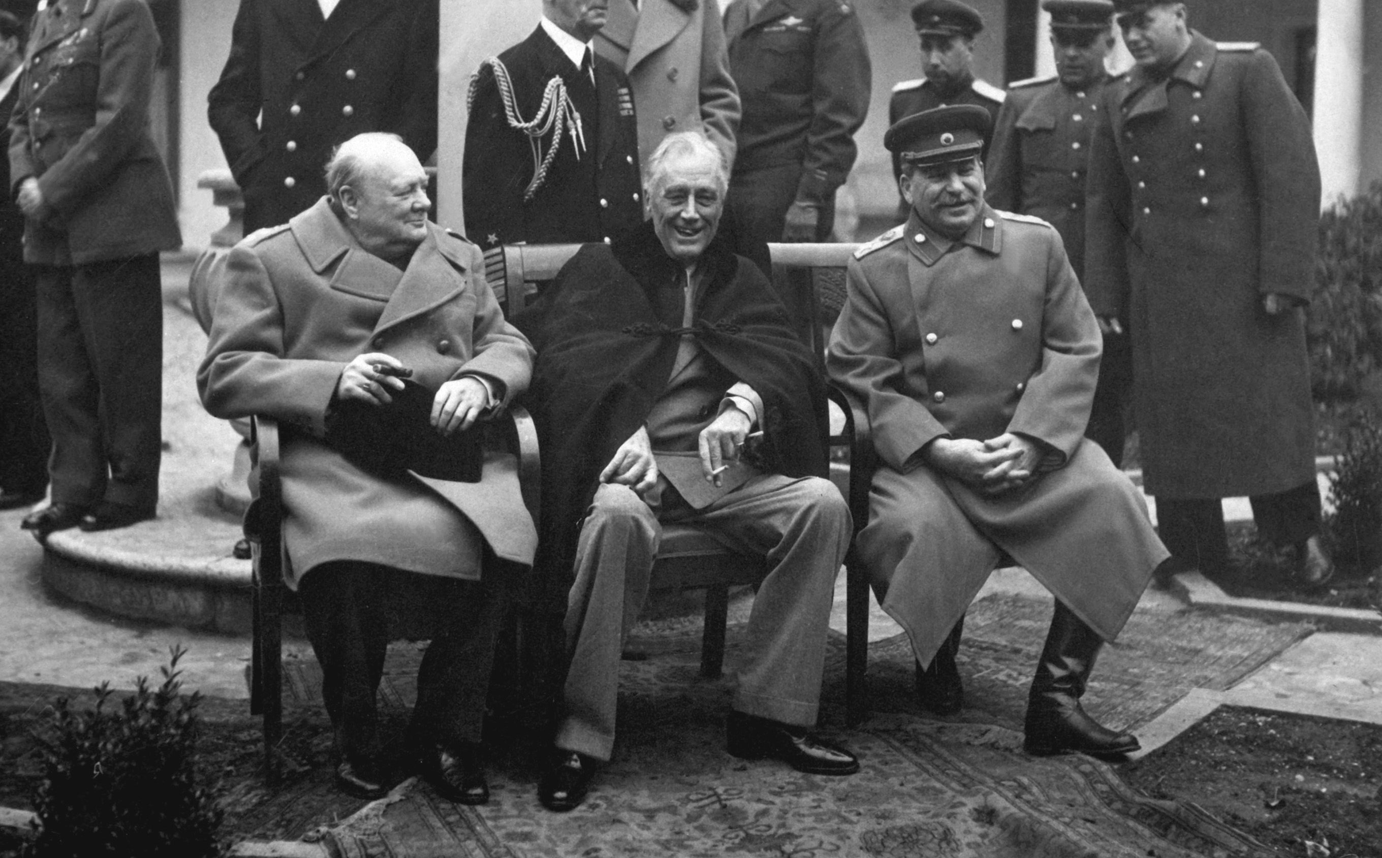 Churchill Roosevelt and Stalin Yalta Conference