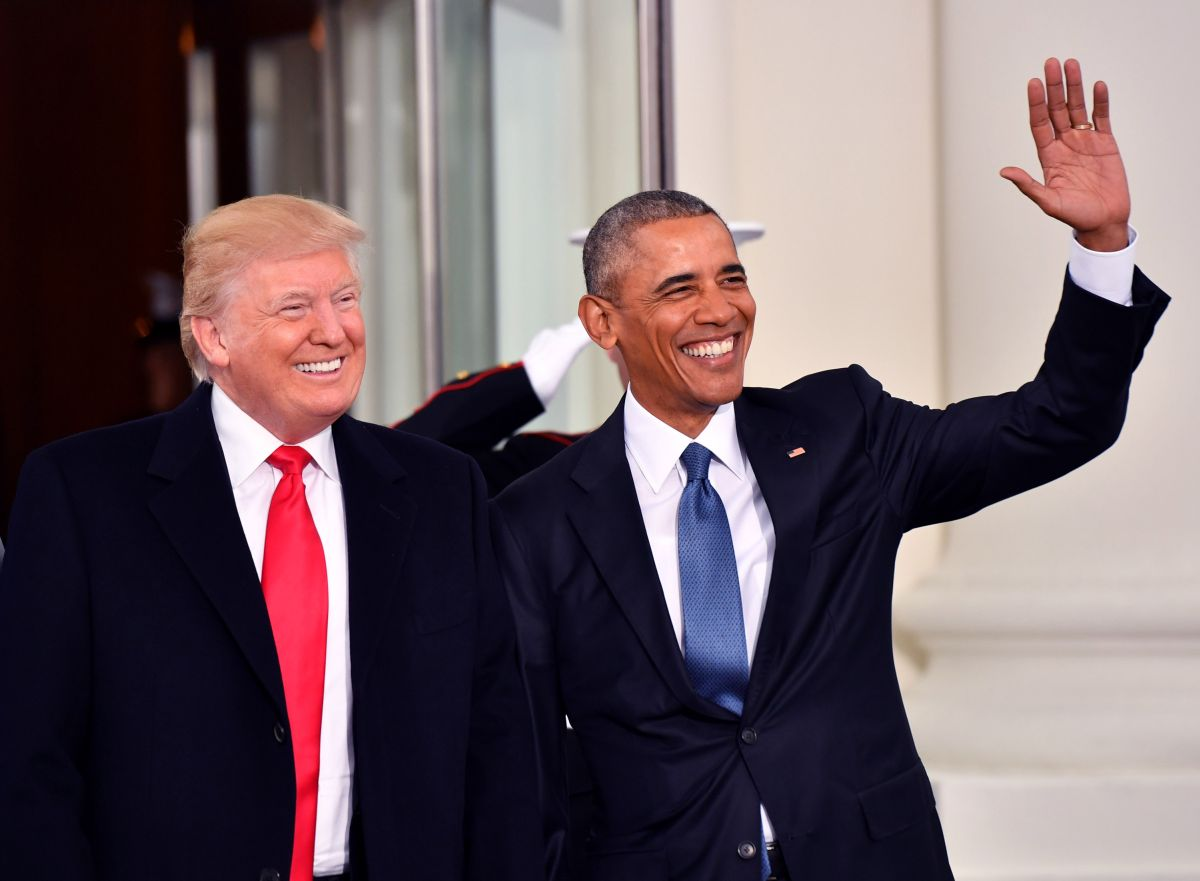 trump and obama chummy