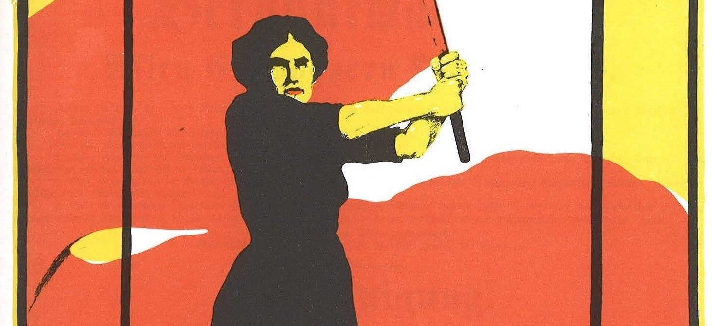 Propaganda poster for international working women's day in Germany.