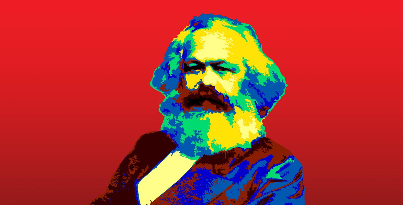 Karl Marx Colorized