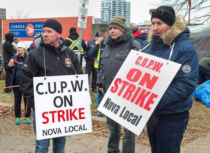 CUPW Strike Canadian Post Workers