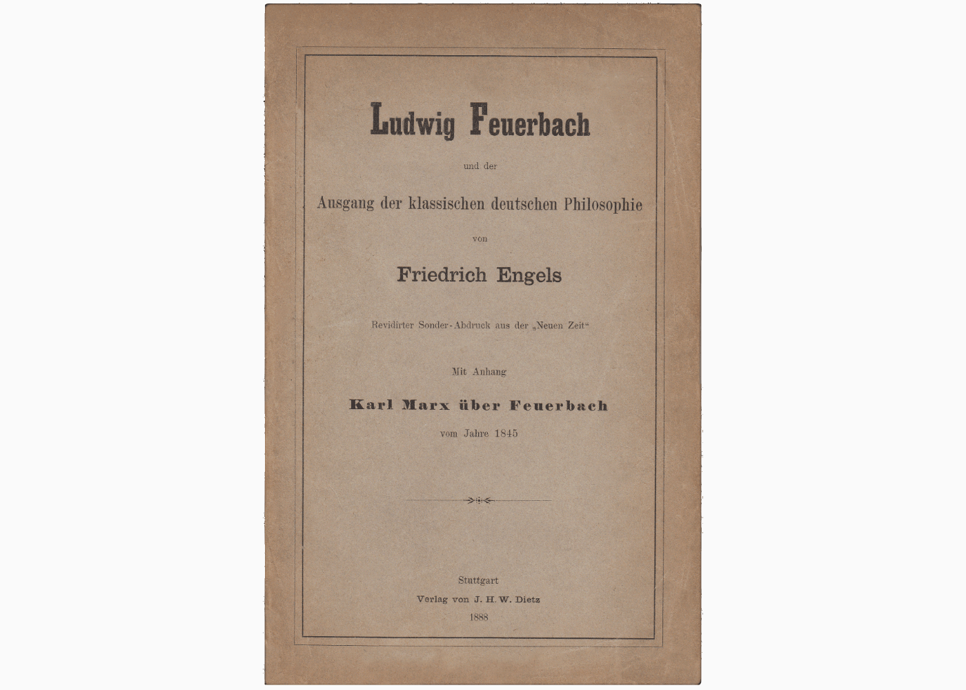 Engels Marx Ludwig Feuerbach Cover