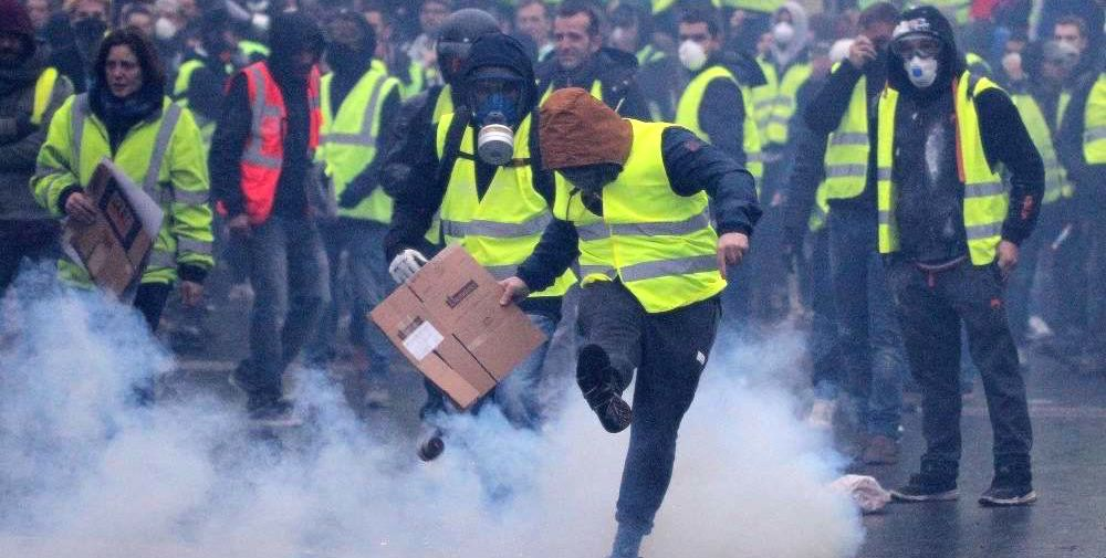 Yellow Vests Movement Tear Gas