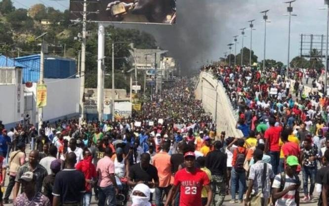 Mass Demonstration in Haiti