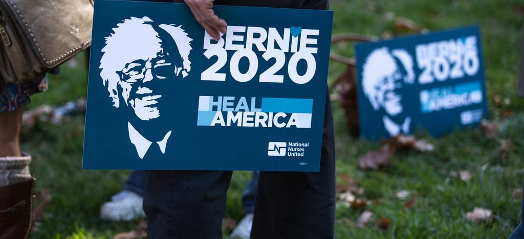 Bernie 2020 campaign sign