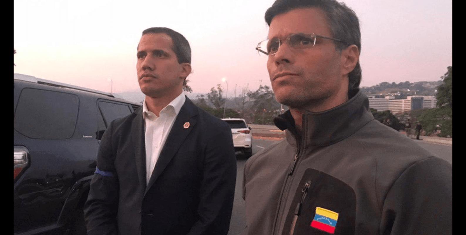 Leopoldo Lopez and Juan Guaido Venezuela Coup