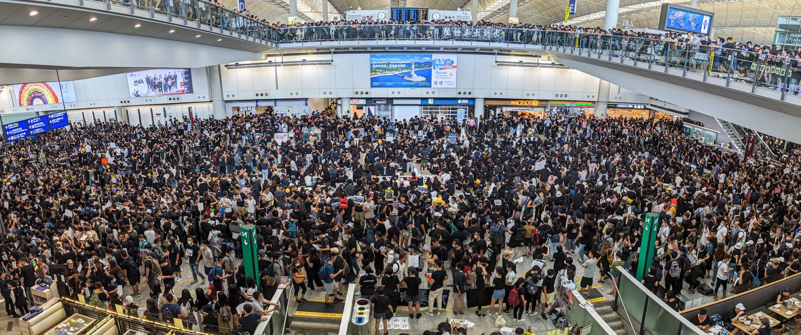 Hong Kong protests at the airport