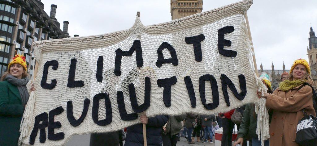 Climate Revolution Protest Banner London