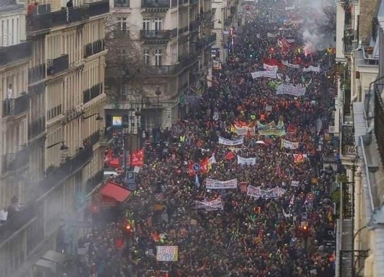 France Strike January 9