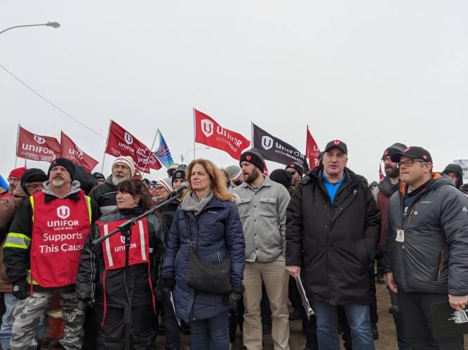 Unifor union rally