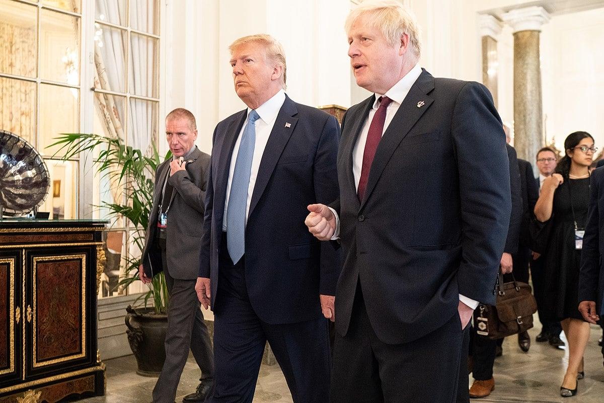 Donald Trump Boris Johnson at G7