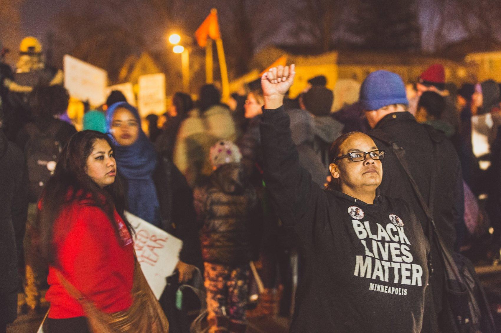 BlackLivesMatter protestors