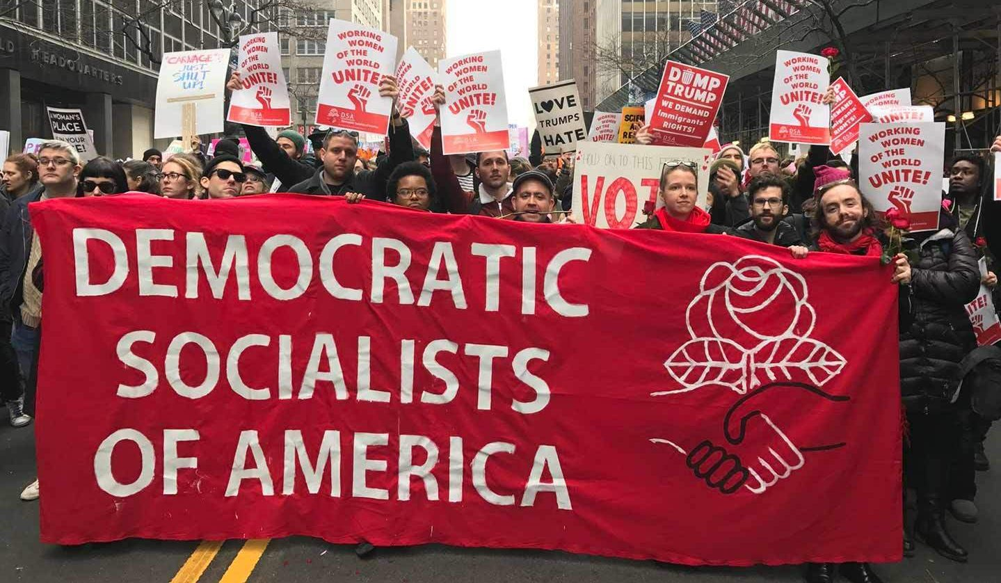 「政党问题」对美国日益增长的社会主义运动具重要意义。//图片来源:美国民主社会主义者政团