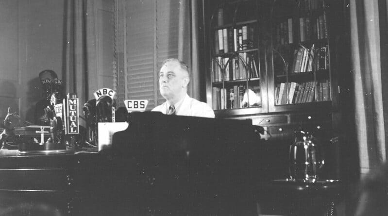 1930年代,小罗斯福成立了劳动关系委员会,以遏止日益增长的不满情绪和劳工激进主义的威胁——声称它将保障工人加入工会的权利。/ 图片:小罗斯福总统图书馆和博物馆,Flickr